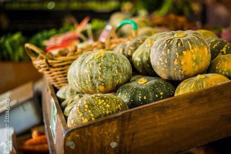 Pumpkins at an organic fruit and veg stand @qv market