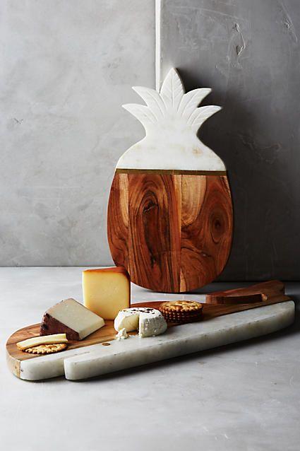 Marble & Acacia Cheese Board