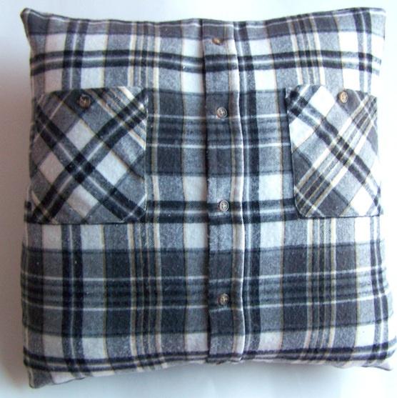 pillow cover from men's shirt
