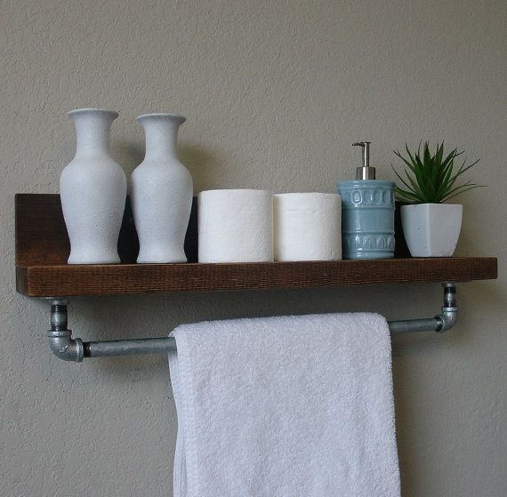 simply industrial rustic bathroom shelf with 24 metal by keodecor