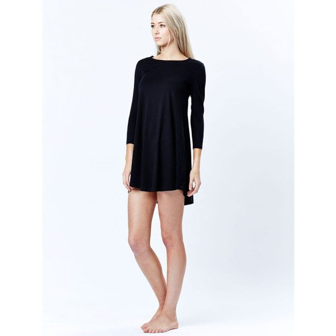 casa kuma - Long Sleeve Swinglet Tee Black
