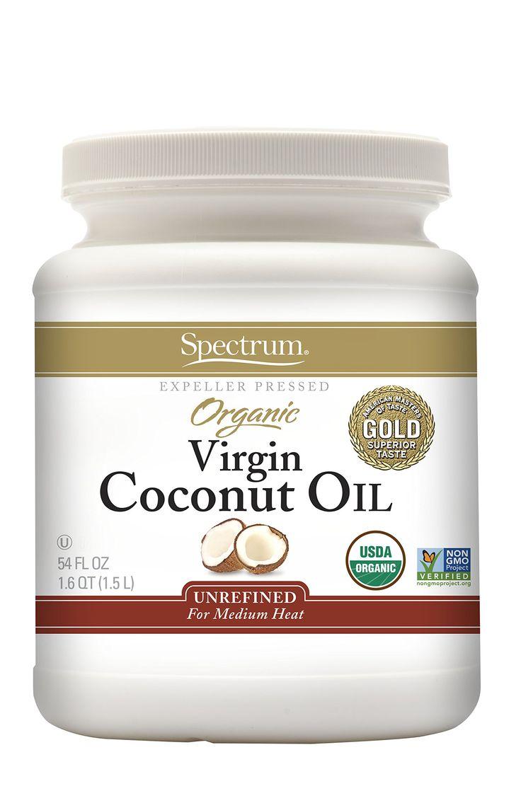 Spectrum Organic Virgin Coconut Oil, Unrefined, 54 Ounce (Pack of 2)