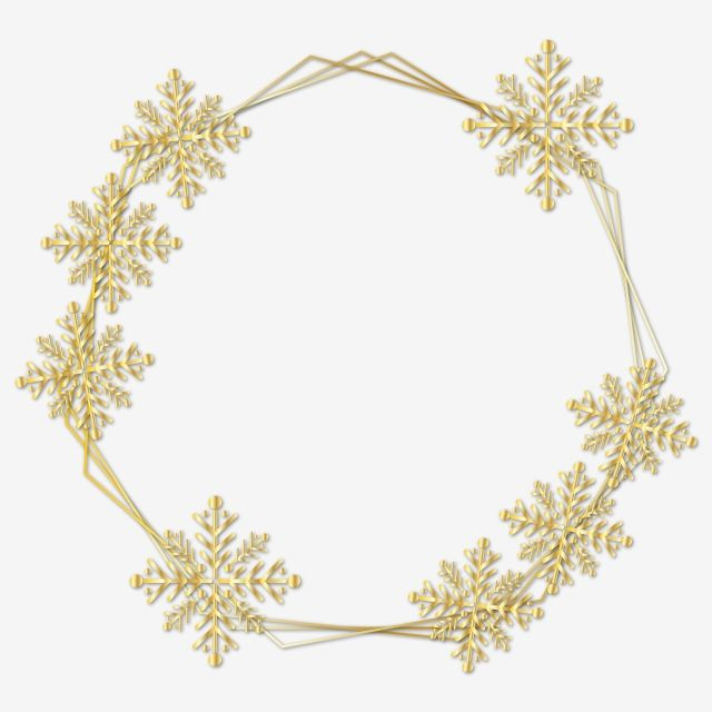 Lovely Golden Frame Snowflake Clipart Png Vector Element Snowflake Snowflake Frame Frame Design Png And Vector With Transparent Background For Free Download Snowflake Clipart Snowflakes Clip Art