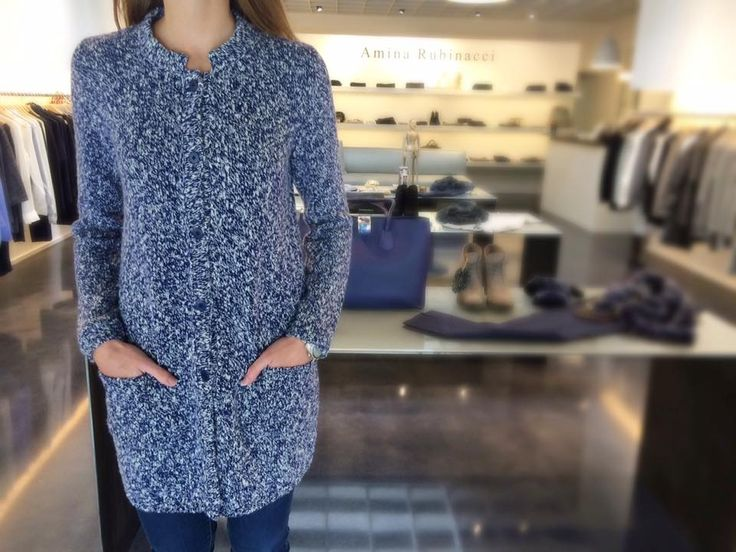 We love the chic look of this coat from Amina Rubinacci. It's also the perfect blue for your next Carolina Panthers game! Come see us and pick up yours today! #SpecialtyShopsDiscover #CLTShopping