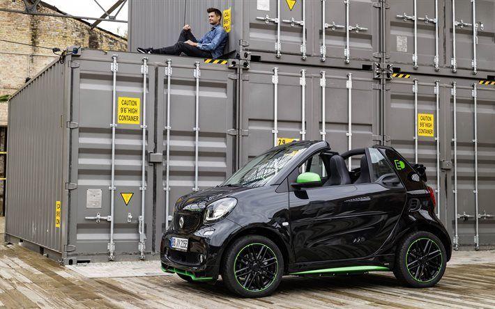 Smart Fortwo, 2017, ED, Electric Drive, Cabrio, convertible Smart, black Smart