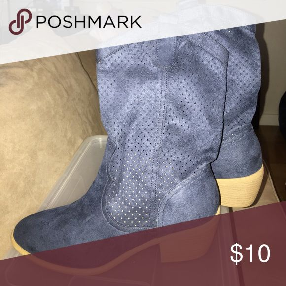 Cowgirl boots Navy Blue cowgirl boots American Eagle By Payless Shoes Heeled Boots