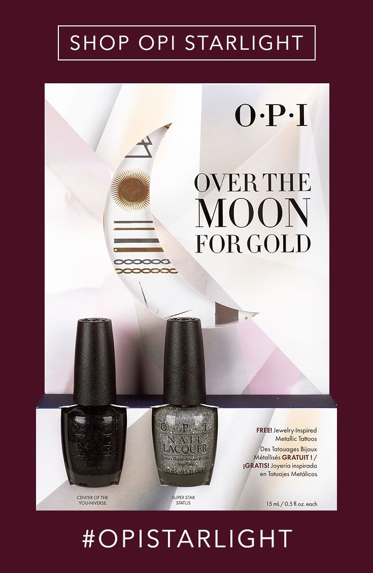 Shop the Gift: OPI Over The Moon for Gold Duo Pack + Metallic Temporary Tattoos