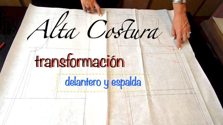 Alta Costura Clase 50A, Blusa Cuello Sport con mangas y pinzas