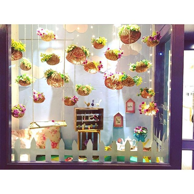 SnapWidget | Inspired by our favorite month for picnics in the park - our February Windows  #windowdisplay #springtime #picnicsarethebest #parktime #visualmood @thewishingchair