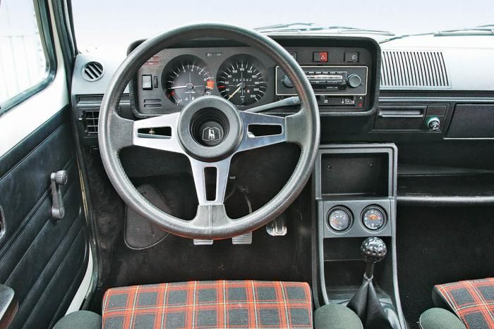 VW GTI Mk1 interior! Best car to have plaid seats