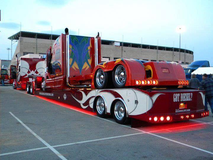 Custom - Navistar International ProStar Tractor (Mayhem) 340 inch Wheel Base, 500 hp Cummins ISX, 8 inch Chrome Exhaust Stacks, Lamborghini Style Doors, Cut-Out Wheels, and 6,000 Watt Stereo (3)