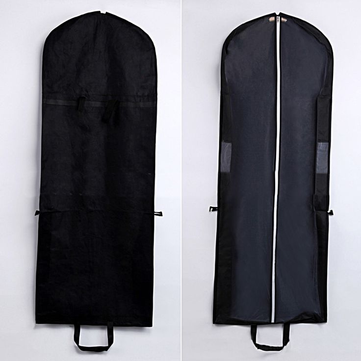 Black foldable garment bag with handle,measured 150*58*8 cm,for bridal gown