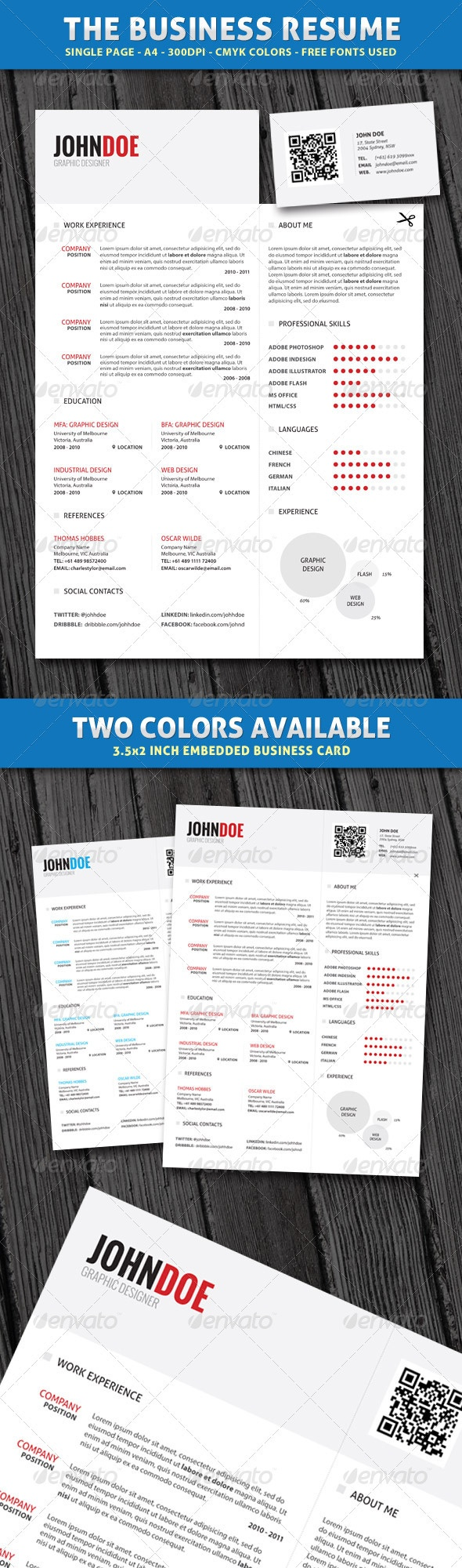 Print Templates - Clean Business Resume | GraphicRiver