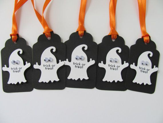 Halloween Gift Tags Halloween Favor Tags Ghost Gift Tags