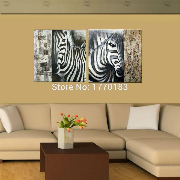 Resultado de imagen para caballos y cebras al oleo - Cuadros de cebras ...