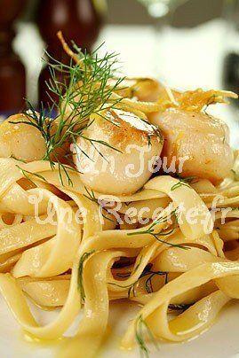 Photo de la recette Tagliatelle aux Saint Jacques