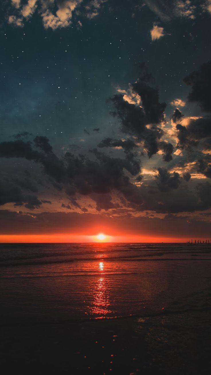 Tapete für den Strand bei Sonnenuntergang – #beach #fondos #Sunset #wallpaper – Lucy – #BEACH