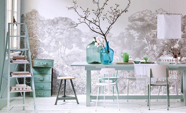 Wallpaper van Rebel Walls, bellewood grey voile