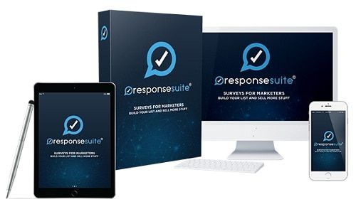 Response Suite - what is it? Response Suite is a fully-hosted, nothing to install SaaS platform that creates stunning surveys which hook up directly into your autoresponder or CRM and then segments people based on their answers to survey questions.