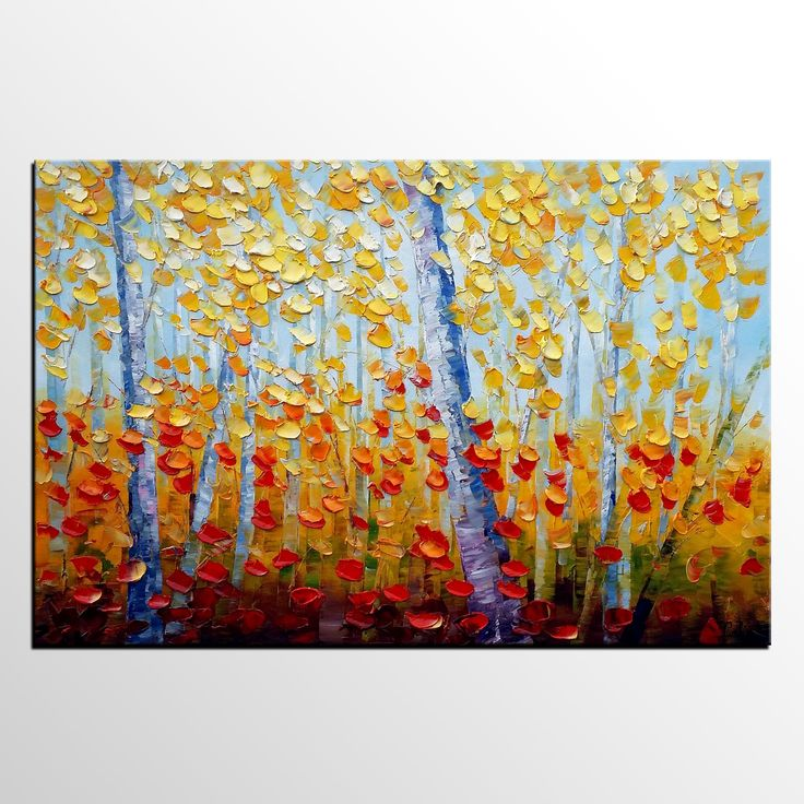 Autumn Tree Painting, Canvas Art, Wall Art, Canvas Painting, Oil Painting  For