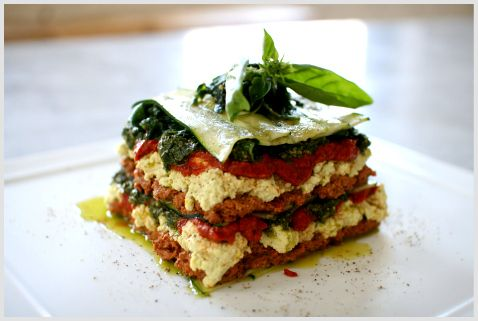 I really love this raw lasagna dish, it's great to take to potlucks or give to your non-raw friends and doesn't need any expensive kitchen equipment other than a knife, a chopping board and an inexpensive food processor. A mandoline would be an advantage, and is also very cheap in terms of kitchen equipment.