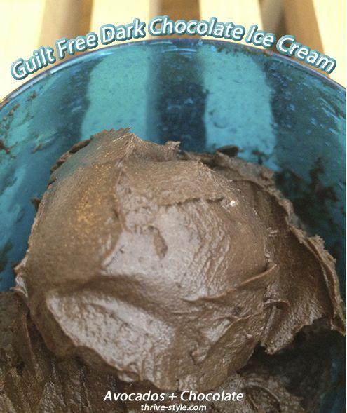 Dark Chocolate Avocado Ice Cream