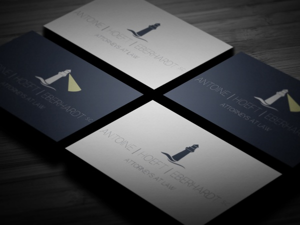 Example of the wrong direction: cold, austere. Law Firm - Logo Mockups by Kristan Hahn, via Behance