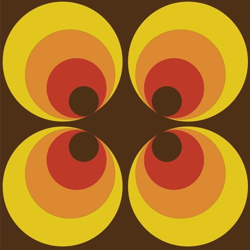 retro 70s circle pattern arw002 astek retro wallpaper