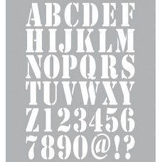 Dutch Stencil Art - Alphabet