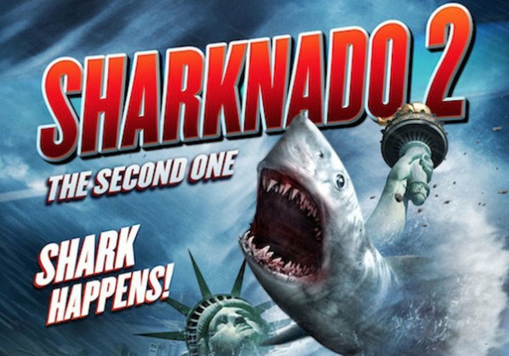 I just saw Sharknado 2 on syfy. The Statue of Liberty part was actually kind of hilarious!
