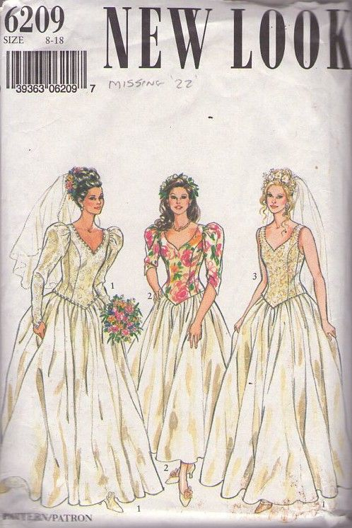 180 best Bridal Sewing Patterns images on Pinterest | Wedding frocks ...