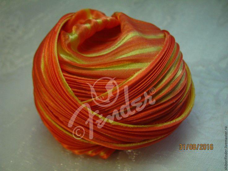 Купить Ленты Шибори Silk Ribbons Shibori №137 Заводной апельсин - рыжий…