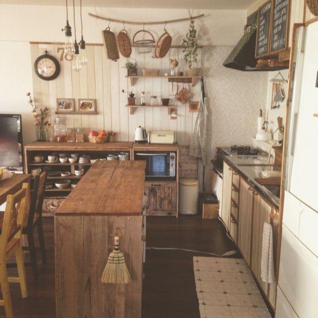 noroさんの、DIY,インスタ→chii_ne,賃貸でも楽しく♪,キッチン,のお部屋写真