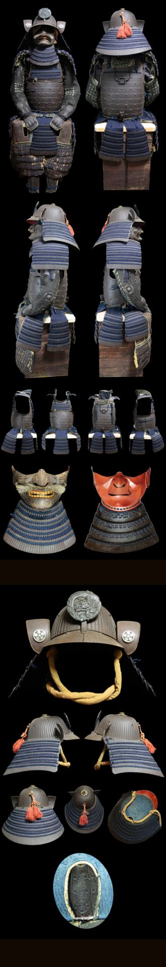 Japanese SAMURAI ARMOR Japan - love the overall shape of the shikoro