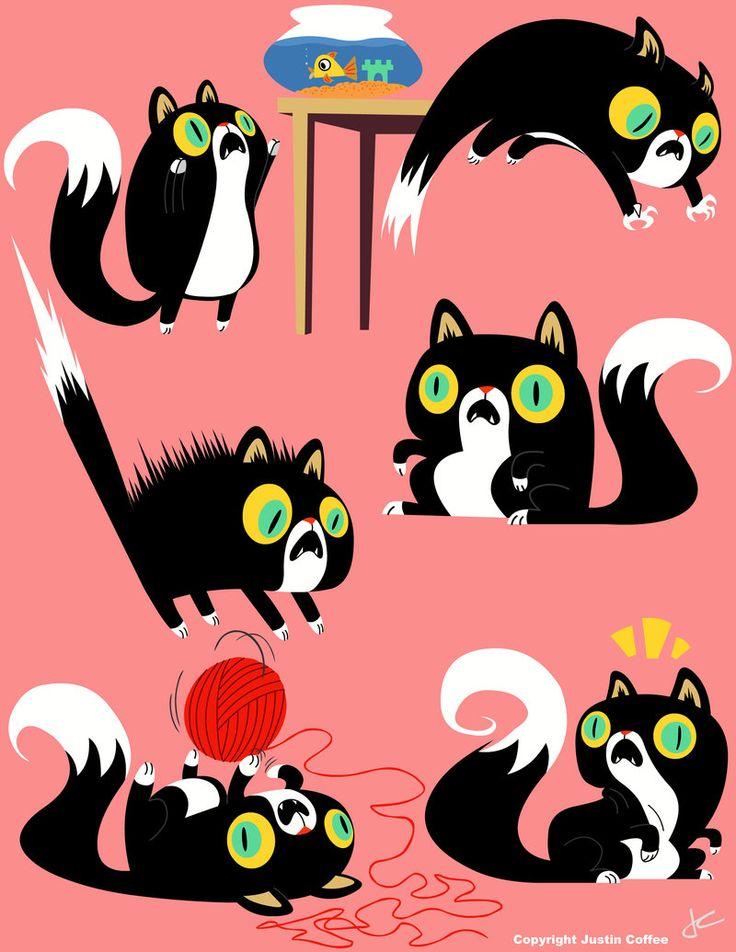 Cat design by *JustinCoffee on deviantART