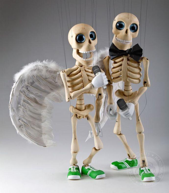 Bonnie - Professional Dancil Skeleton Marionette Puppet