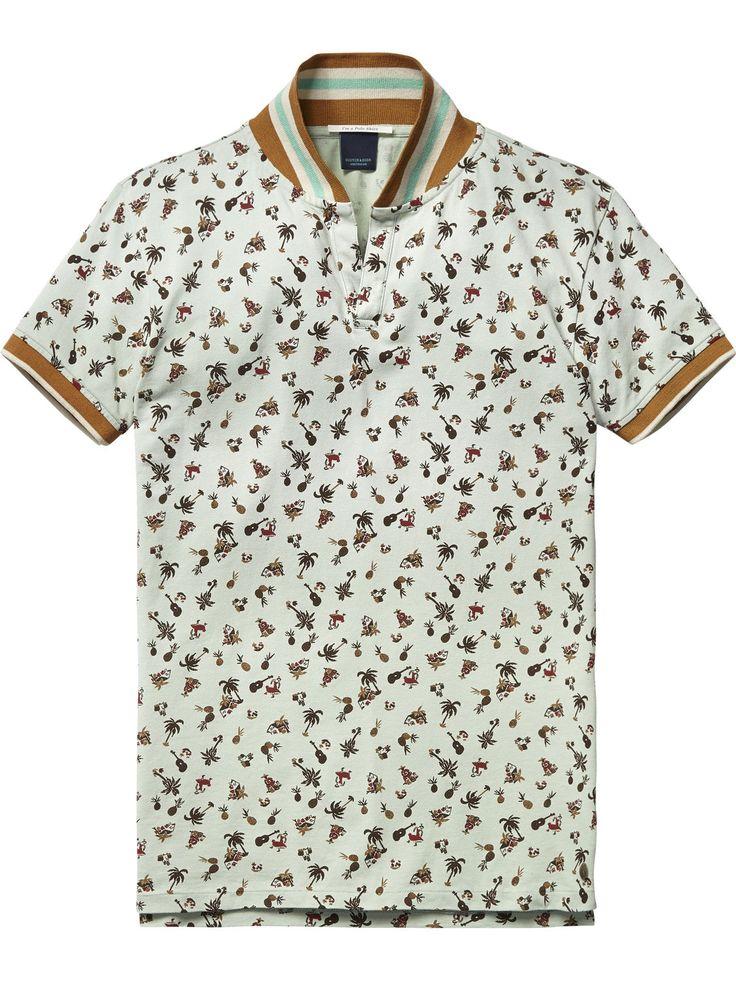 Poloshirt met retro-kraag |Polo's|Herenkleding bij Scotch & Soda