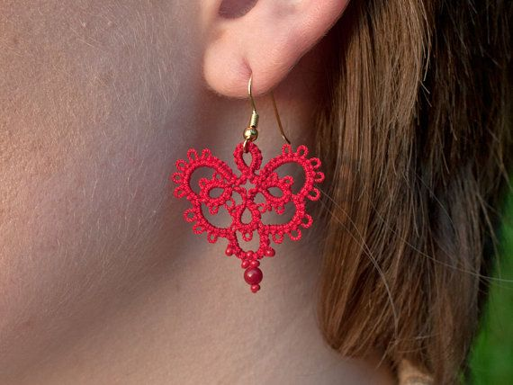 Hey, I found this really awesome Etsy listing at https://www.etsy.com/listing/171904772/victorian-red-lace-earrings-made-of