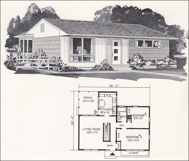 37 best 1950 Floor Plans images on Pinterest Contemporary houses