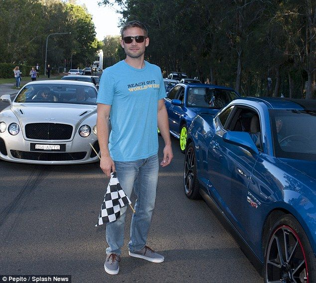 Stepping into his shoes! The late Paul Walker's brother Cody was in Sydney on Saturday to ...
