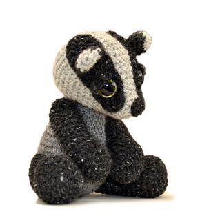 Ambrose Badger, crochet pattern by Kate E. Hancock #amigurumi