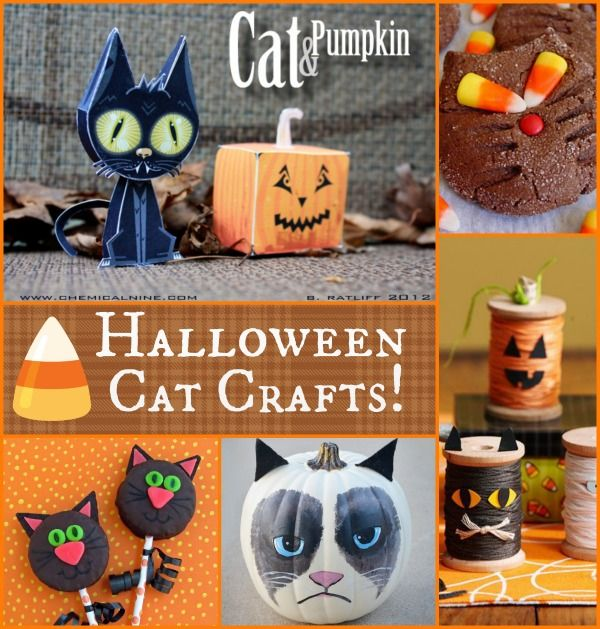 Some cute cat crafts just in time for Halloween!
