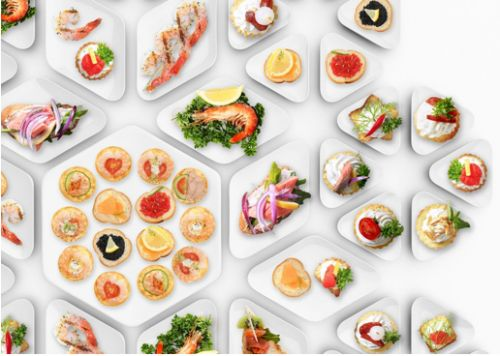 Catering – Plates for snacks by Kabo & Pydo