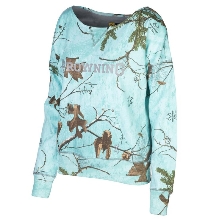 Women's Mint Camo Waverly Browning Pullover
