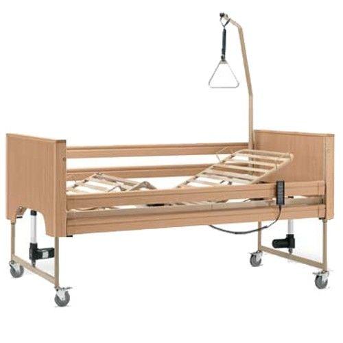 Letto degenza elettrico domiciliare in legno per anziani e disabili Modello Siesta