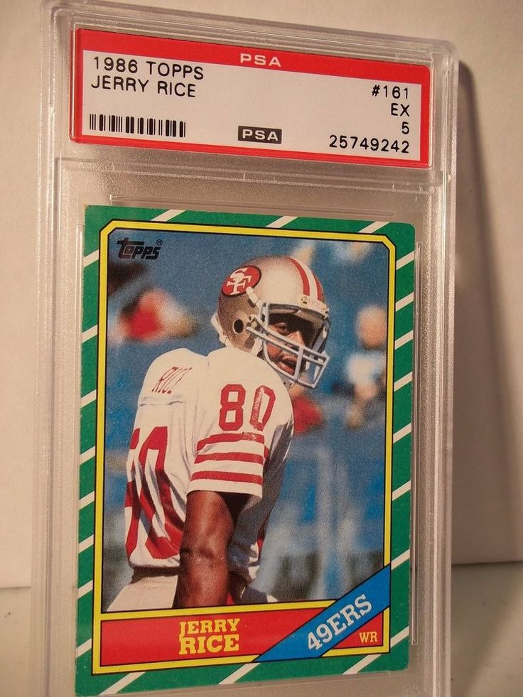 1986 topps jerry rice rookie psa ex 5 football card 161