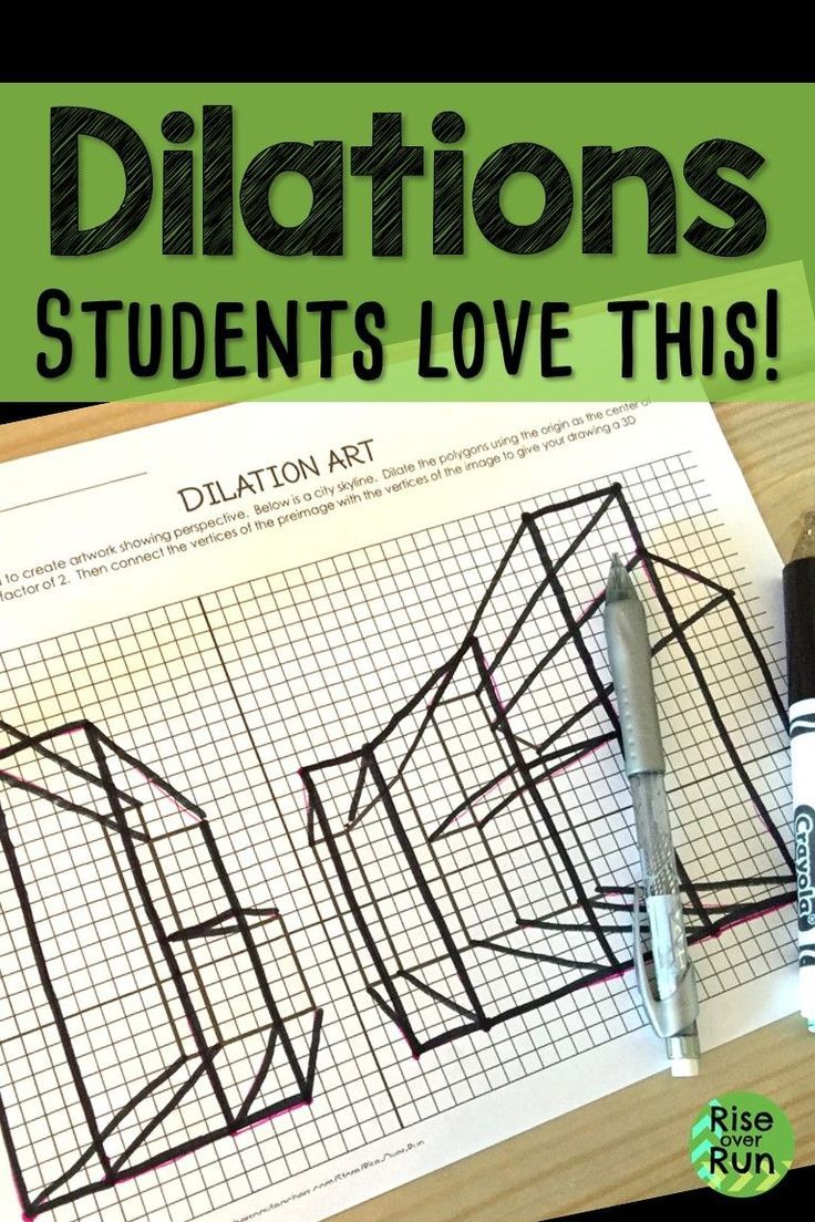 My Students Always Love This Dilation Activity Combining Geometry And Art Students See How High School Math Activities Geometry High School Math Art Projects