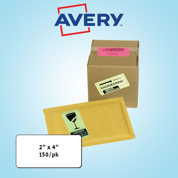 """Avery High Visibility Laser Labels 2"""" x 4"""" Assorted Neon 150ct"""