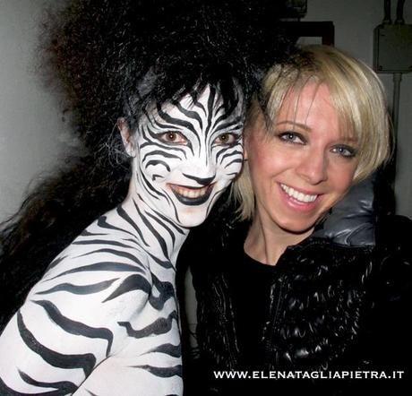 zebra body painting e elena