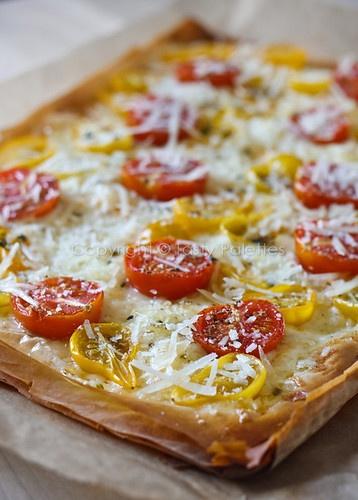 Tasty Palettes: Vegetarian Phyllo Pizza